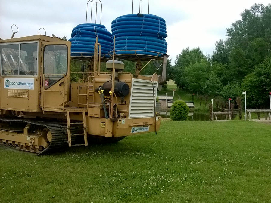 Drainage being carried out at an Equestrian centre